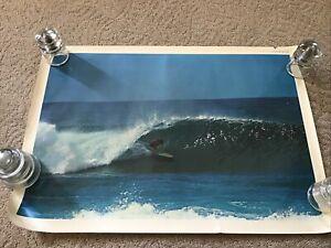 VINTAGE 1967 SURFERS SURF 23x30 POSTER JOHN SEVERSON ORIGINAL  HAWAII PIPELINE C