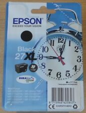 GENUINE EPSON 27XL Black cartridge ORIGINAL T2711 ALARM CLOCK ink BOXED (2020)