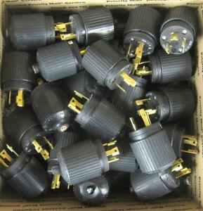 Hubbell Male 30a 250v Twist Lock Plug nema L6-30P  --- Lot of 40