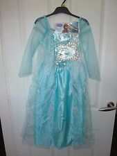 Disney FROZEN Elsa Dress Up Costume Age 7-8 Years NWT