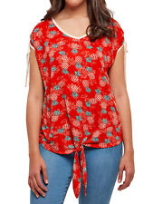 Ladies Joe Browns Pineapple Tie Front Top Sizes 12-32 NEW