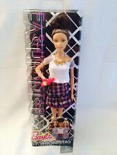Mattel Barbie Doll Fashionistas 2015 Curly Bun Brunette Plum Plaid CLN64 HTF New