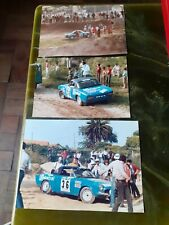 Fiat spider 124 coupe 3x original raly racing photos vintage