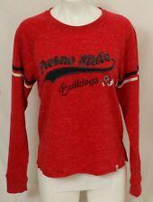 NEW Fresno State Bulldogs Colosseum Red Heathered LS Sweatshirt Women's M