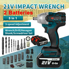 3 Speed 5 In 1 Cordless Brushless Electric Impact Wrench 12 With 2 Batteries