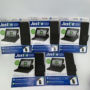 """Just In Universal Fit Rechargeable Power Case Fits- 8.9""""-10.1"""" Tablets Lot Of 5"""