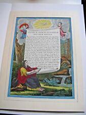 BELLE GRAVURE COULEURS PAGE EVANGILE SELON SAINT-JEAN Vers 1700 LATIN Superbe