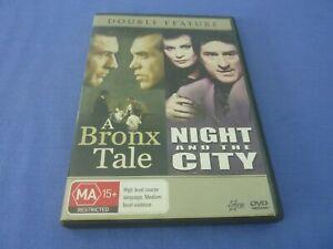 A Bronx Tale / Night And The City DVD Robert De Niro Jessica Lange Region 4