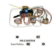 Bartolini HR-2.5AP Pre-Wired 3 Band EQ Active/Passive Preamp
