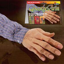GHASTLY FAKE ARM Sleeve Car Trunk Gag Joke Prank Rubber Old Man Hand Zombie Prop
