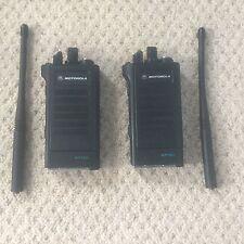 2x Motorola Astro Saber I (H04KDC9PW5AN) DVI-XL Encrypted VHF Two Way Radios