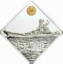 "Palau 2008 Battleship Yamato ""大和"" 2oz Gold Plated Silver Coin,Proof"
