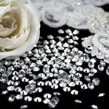 CLEAR POINTED BACK WEDDING TABLE SCATTER DECORATION CRYSTALS DIAMONDS EVENTS