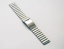 20mm Branded Premium Polished Stainless Steel Watch Strap with Folding Clasp
