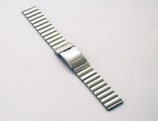 20mm con marchio Premium Lucido Acciaio Inossidabile Cinturino con Fibbia pieghevole