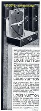 PUBLICITE LOUIS VUITTON PORTE HABITS MALLE ARMOIRE VALISE DE 1932 FRENCH AD PUB