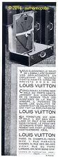 PUBLICITE LOUIS VUITTON PORTE HABITS MALLE ARMOIRE VALISE DE 1932 FRENCH AD PUB