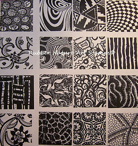 "16 Rubber Nature Art Stamps Deep Etched  1-1/2"" Sq Designs 4 Ploymer Clay & PMC"