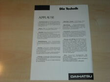30532) Daihatsu Applause tech.Daten Prospekt 1989