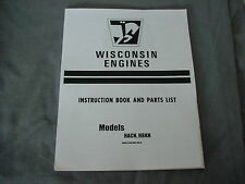 WISCONSIN ENGINE  HACN,  HBKN  INSTRUCTION, REPAIR & PARTS MANUAL BRAND NEW