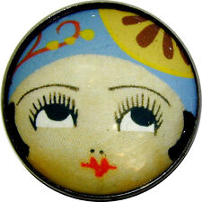 """Crystal Dome Button Roaring 20s Flapper Girl - """" Amy """""""