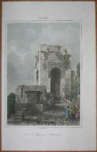 1844 print TOWER OF JUSTICE, ALHAMBRA, ANDALUSIA, SPAIN (#20)