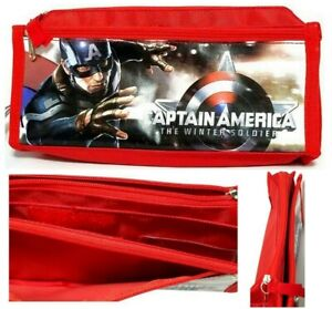 Marvel Captain America Winter Soldier Compartments Storage Zipper Pouch Holder