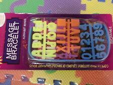Trabajo Lote 50 conjuntos de Divertido Mensaje Pulsera Colorida crea tu propio mensaje