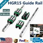 2X Linear Rail HGH15-300mm-1500mm Set 4X HGH15CA Bearing Block Carriage HGR15 US