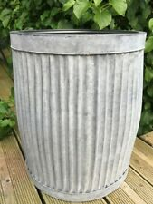 Large Dolly Tub Peggy Planter Vintage Style Garden Plant Pot Container Zinc New