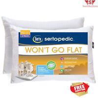 Set Of 2 Bed Foam Pillows King Size Hypoallergenic Gel Cool Comfort Sleep Pillow