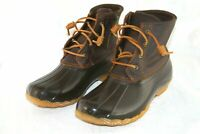 Sperry Top-Sider Saltwater Leather Rubber Duck Boots Brown Women's US 9.5 NWOB!