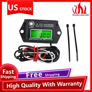 Maintenance Hour Meter Real-Time RPM for Mower Motorcycle Chainsaw Waterproof US