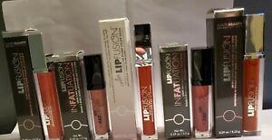 LIPFUSION Lip gloss Collagen LIP PLUMPER 5 Different Colors plump Lot $130 NIB