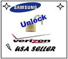 VERIZON Unlock Service - Samsung Galaxy  HTC LG All Models - SUPER FAST