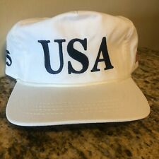 PRESIDENT DONALD TRUMP OFFICIAL CAMPAIGN WHITE USA 45 HAT MADE IN USA CALI FAME