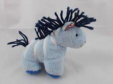 """Pottery Barn Kids BBK Blue Horse Zebra Plush 4.5"""""""