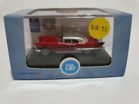 Oxford Diecast 87CE57002 Cadilac Eldorado Brougham 1957 Dakota Red 1/87