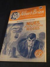 1940s ADVENTURES POLICIER ALBERT BRIEN DETECTIVE SEX MURDER FRENCH  PULP #517