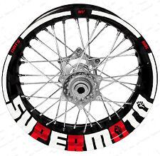 Supermoto TMR weiß/rot - Motorrad Felgenaufkleber Aufkleber (KTM,SMC,Honda,CRF)