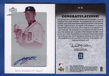 1/1 Justin Verlander Autograph 2007 UD Black Printing Plate Card Detroit Tigers
