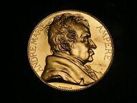 Médaille André Marie Ampère Argent Massif Vermeil JC Chaplain Silver Silber