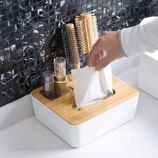 Tissue Box Dispenser Wooden Covers Paper Storage Holder Napkin Case Organizer