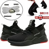 UK Mens Safety Shoes Steel Toe Cap Womens Sports Work Shoes Protective Trainers