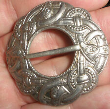 antique Norwegian Silver 830S dragon dragestil  brooch Norway