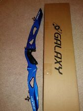 """Galaxy Crescent Olympic recurve riser 25"""" ilf left handed or right hand -specify"""