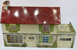 Vintage 1960's Marx Disney Tin Metal Litho Doll Play House