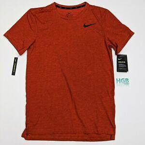 Nike Breathe T-Shirt Men's Running Training Sport Basketball Orange AJ8002-662