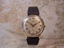 1947 OMEGA Bumper Automatic 17 Jewel 28.10RA 14K Gold Filled Men's Watch,Running