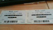 Meat Loaf unused concert ticket 2007